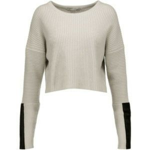 Autumn Cashmere ribbed knit sweatee